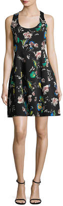 Prabal Gurung Floral Fit-And-Flare Dress