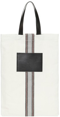 Jil Sander Exclusive to Mytheresa leather-trimmed canvas shoulder bag
