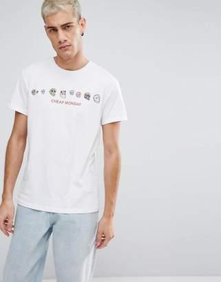 Cheap Monday COLORFUL Skull Logo T-Shirt
