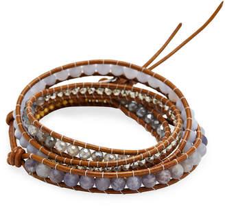 Chan Luu Silver & Iolite Stone Wrap Bracelet