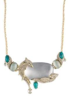 Alexis Bittar Roxbury Articulating Bib Necklace Teal blue tf7Oo