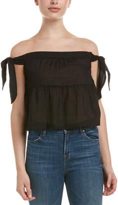 c29d5acf9af623 BCBGMAXAZRIA Black Off Shoulder Women s Tops - ShopStyle