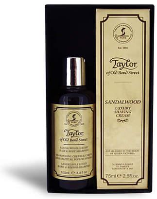Sandalwood Hair & Body Shampoo 100ml And Shaving Cream Tube 75ml