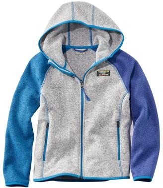 L.L. Bean Kids' L.L.Bean's Sweater Fleece, Hooded, Colorblock