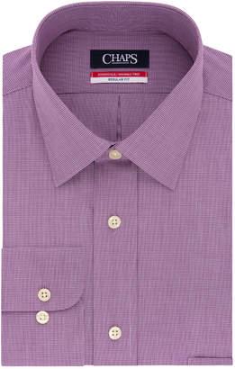 Chaps Men's Regular-Fit Wrinkle-Free Stretch Collar Dress Shirt