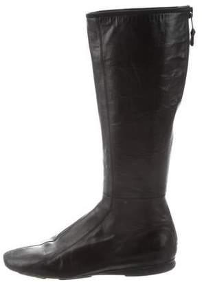 Prada Sport Square-Toe Mid-Calf Boots