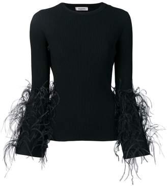 Valentino ostrich feather embellished jumper