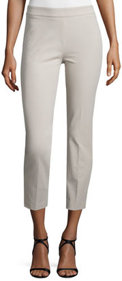 Peserico 4-Way Stretch Cropped Pants, Stone $345 thestylecure.com