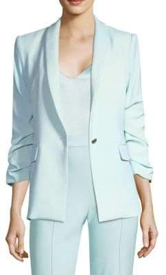 Alice + Olivia Sebastian Button-Front Blazer
