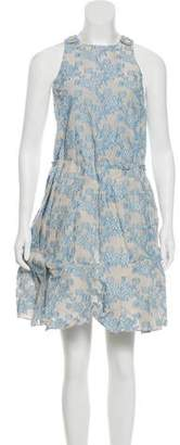 Julien David Embroidered A-Line Dress