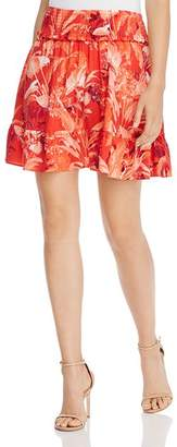 GUESS Rona Smocked Floral-Print Mini Skirt