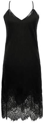 Gold Hawk Lace Velvet Dress