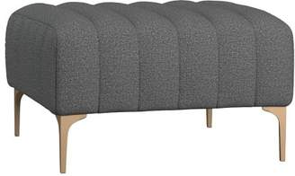 Pottery Barn Teen Avalon Lounge Collection, Ottoman, Tweed Charcoal, IDS