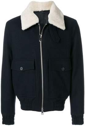 Ami Alexandre Mattiussi Shearling Collar Zipped Jacket