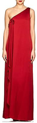 Valentino Women's Crepe One-Shoulder Gown - Red