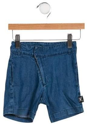 Nununu Boys' Flat Front Denim Shorts