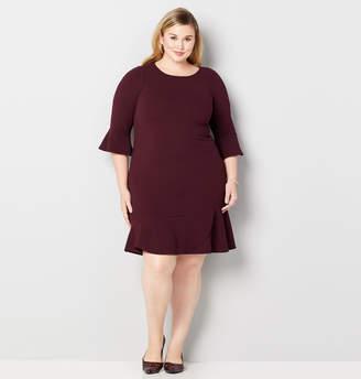 Avenue Flounce Hem A-Line Dress