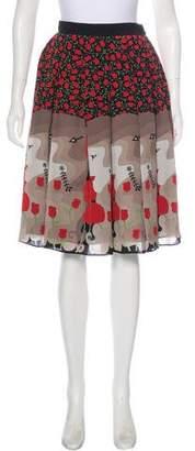 Holly Fulton Silk Floral Skirt