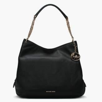 e154b52ccce5e9 Michael Kors Large Lillie Black Pebbled Leather Shoulder Tote Bag