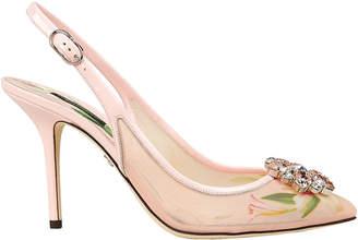 Dolce & Gabbana Bellucci Mesh Slingback Pumps