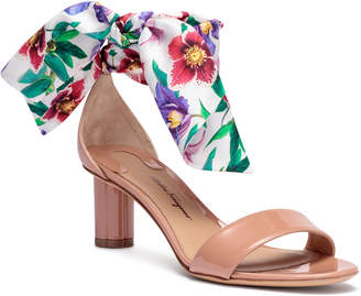 Salvatore Ferragamo Tursi 55 blush patent leather sandals