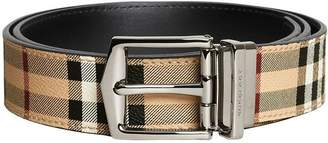 Burberry reversible Haymarket check belt
