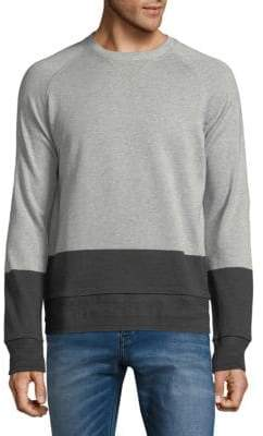 HUGO BOSS Colorblock Cotton Sweater