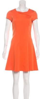 Halston A-Line Short Sleeve Dress
