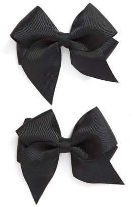 PLH Bows & Laces Bow Clips (Set of 2) (Baby Girls) $12 thestylecure.com