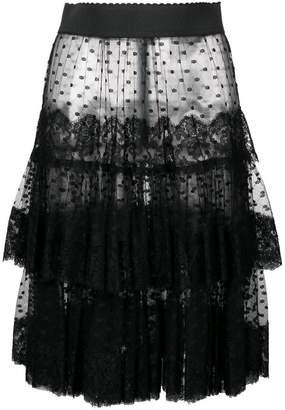 Dolce & Gabbana sheer frilled skirt