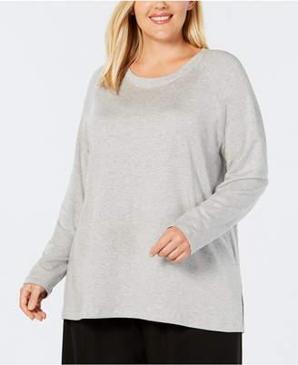Eileen Fisher Plus Size Tencel Side-Split Top