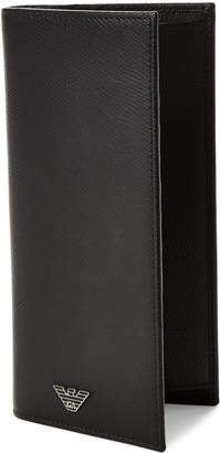 Emporio Armani Black Logo Leather Pocket Wallet