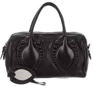 Alaia Studded Leather Satchel
