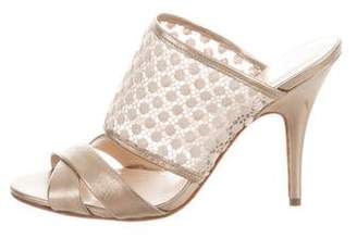 Delman Metallic Slide Sandals