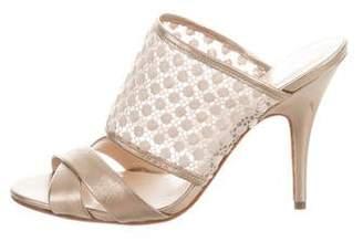 Delman Metallic Slide Sandals