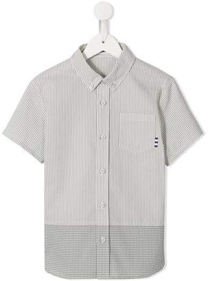 Familiar striped button-down shirt