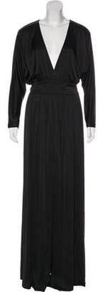 Halston Long Sleeve Maxi Dress w/ Tags