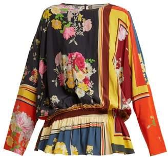Preen Line Nora Floral Print Peplum Blouse - Womens - Multi
