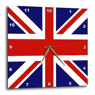 NAVAL 3dRose Union Jack Old British Flag, Wall Clock, 15 by 15-inch