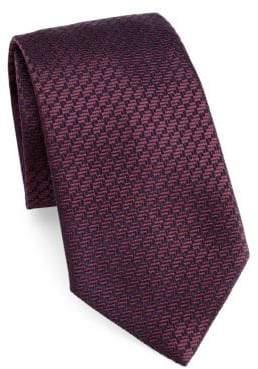 Emporio Armani Geometric Silk Tie