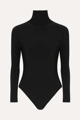 Norma Kamali Stretch-jersey Turtleneck Bodysuit - Black