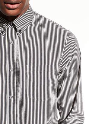 Vince Bar Stripe Cotton Long Sleeve