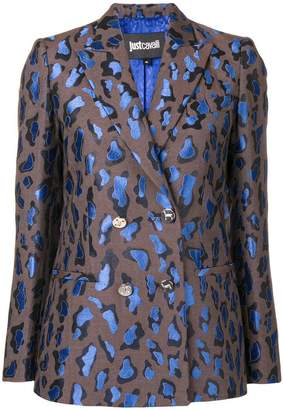 Just Cavalli patterned double-breasted blazer