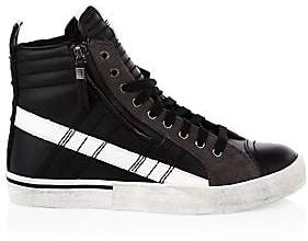 Diesel Men's Quilted Leather High-Top Sneakers