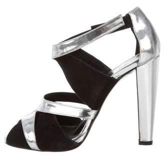 Pierre Hardy Metallic Ankle Strap Sandals