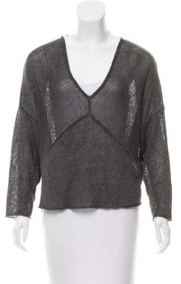 Helmut Lang Linen Long Sleeve Sweater