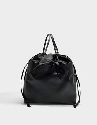 Marni Backpack in Black Nylon and Nappa