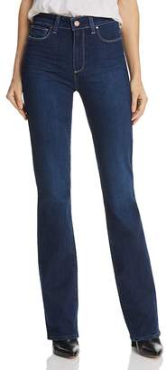Paige Manhattan High Rise Bootcut Jeans in Pompeii