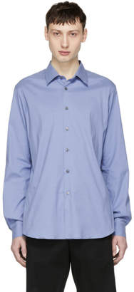 Prada Blue Stretch Poplin Shirt