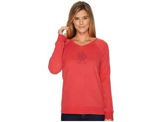 Life is Good Daisy Mandala Go-To Long Vee Women's Long Sleeve Pullover